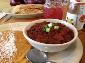 Vegan Chili and Johnny Cake