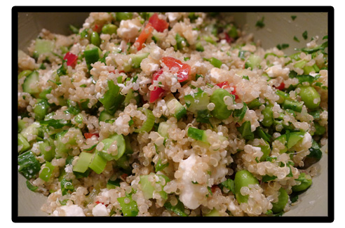 Voila, super green quinoa packed with fiber, viatmins and flavor