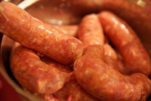 The finished sausages can be easily trimmed and frozen.