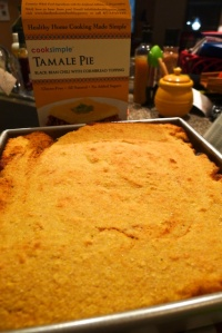 The finished tamale pie