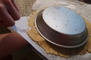 Getting the dough into the pie pan the easy way.